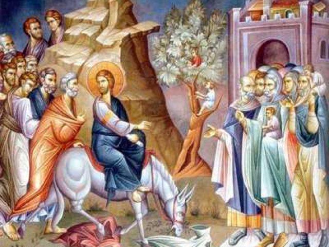 Intrarea în Ierusalim a Domnului: Intrarea la nuntă cu Biserica Sa