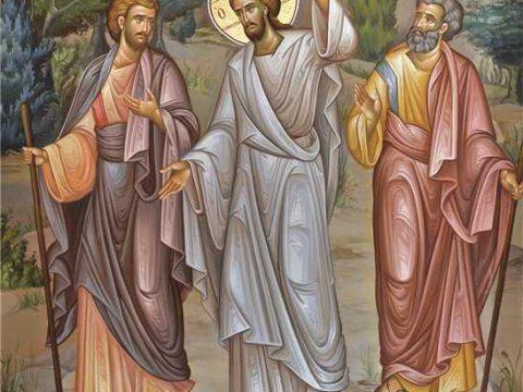 Evanghelia din a 3-a zi de Paști. Luca și Cleopa îl cunosc pe Domnul mâncându-i Trupul