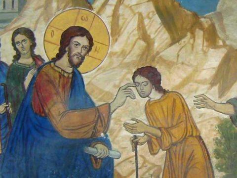 Ev. Matei capitolul 12, vers. 22-28. Iisus Hristos scoate pe demoni din oameni cu Duhul lui Dumnezeu.